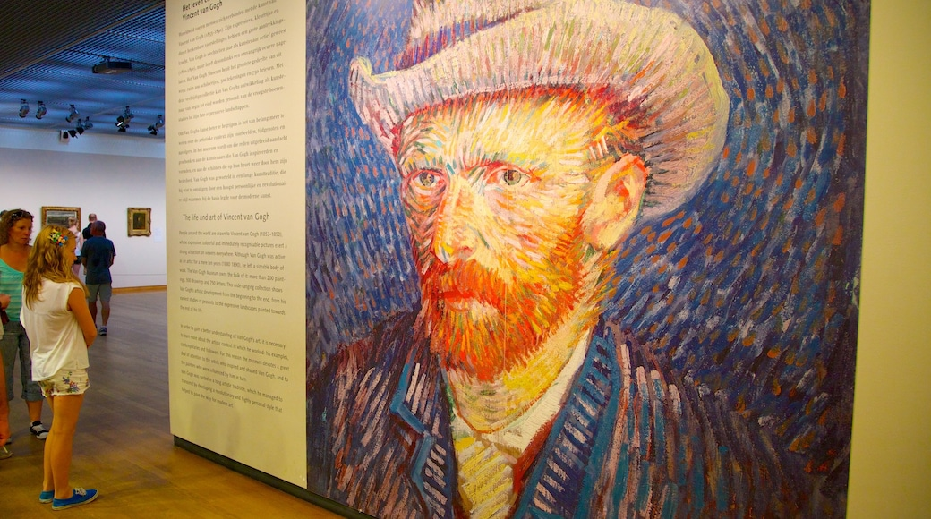 Van Gogh Museum showing hiking or walking and interior views