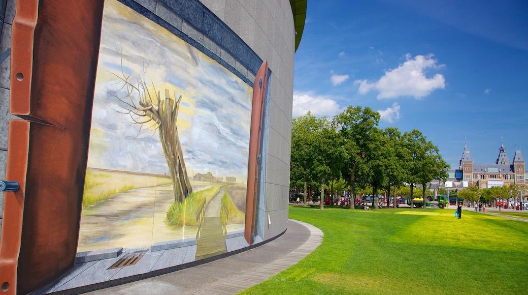 Van Gogh-museet som inkluderar en stad