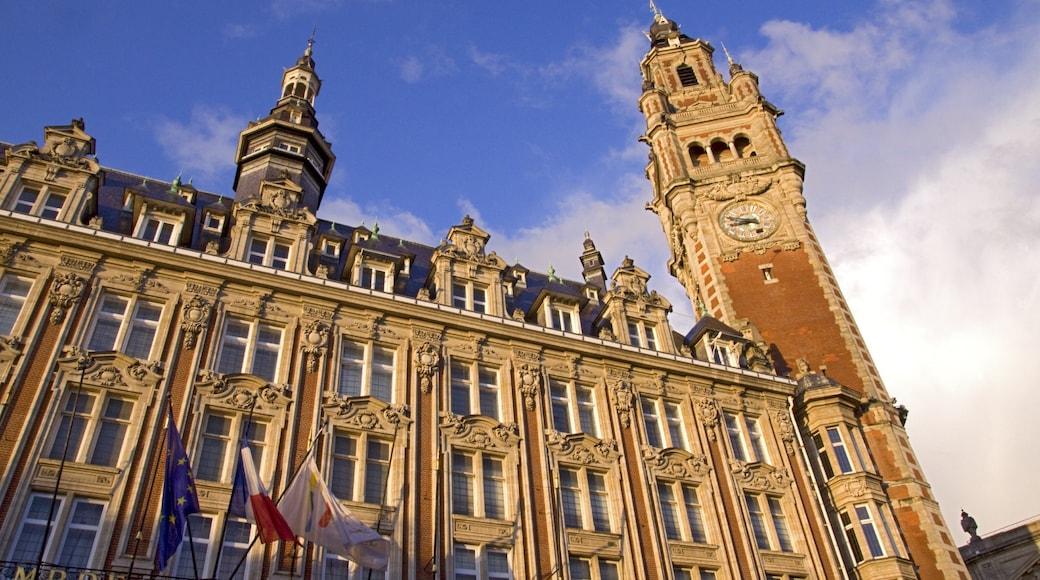 Lille qui includes patrimoine architectural, ville et château