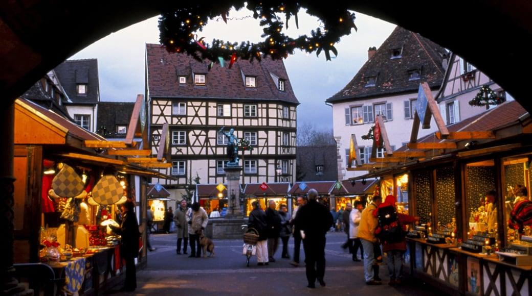 Colmar mettant en vedette scènes de rue, ville et patrimoine architectural