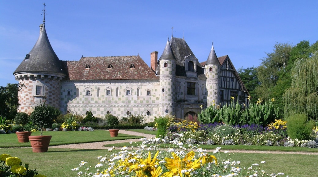 Lisieux which includes a castle, flowers and a garden