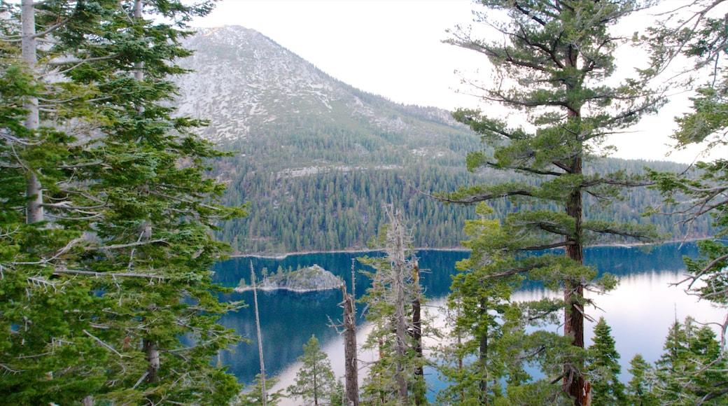 Emerald Bay State Park which includes landscape views, a garden and mountains