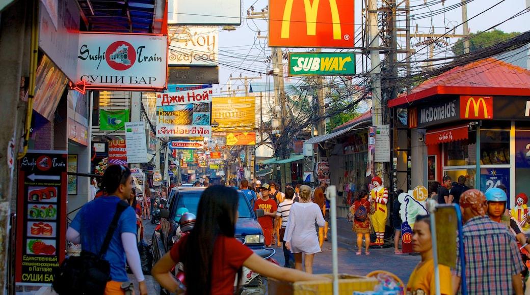 ถนนคนเดิน แสดง ตลาด, ช้อปปิ้ง และ ภาพท้องถนน