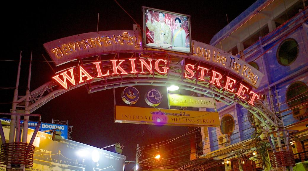 ถนนคนเดิน แสดง ภาพท้องถนน, ป้าย และ เมือง