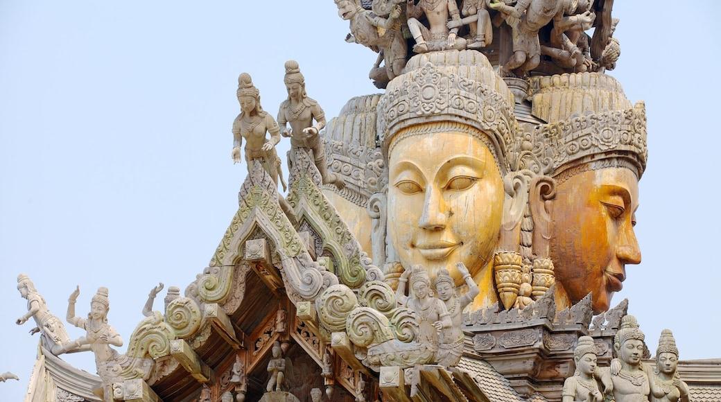 ปราสาทสัจธรรม ซึ่งรวมถึง แง่มุมทางศาสนา และ วัดหรือสถานที่เคารพบูชา