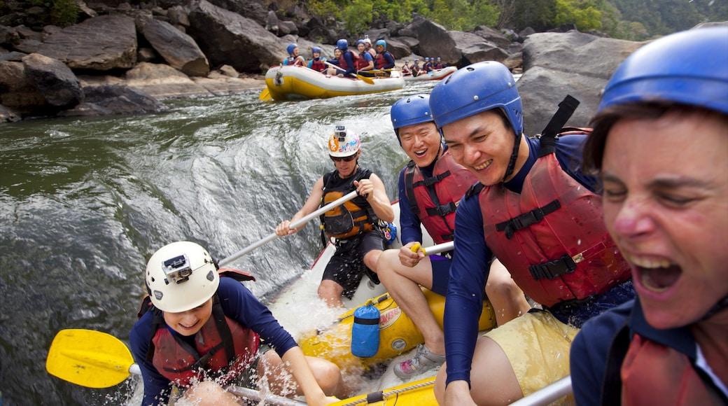 Parque Nacional Barron Gorge que incluye rafting y rápidos y también un pequeño grupo de personas