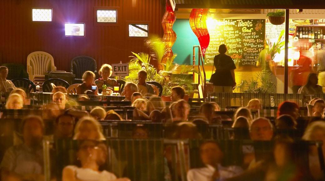 Darwin Deckchair Cinema featuring nightlife, theatre scenes and night scenes