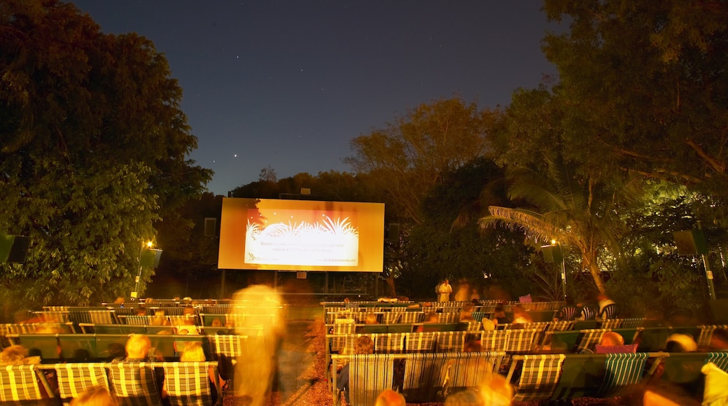 Darwin Deckchair Cinema featuring theatre scenes and night scenes