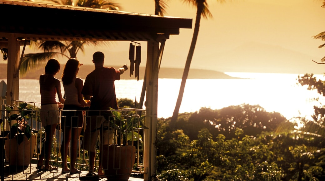 Port Douglas featuring general coastal views, views and a sunset
