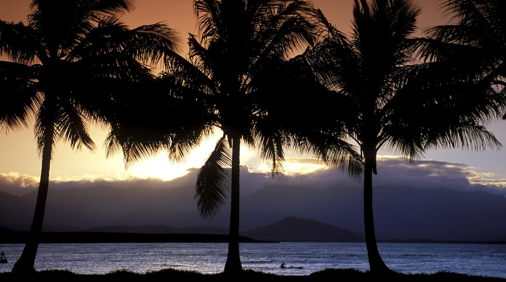 Port Douglas which includes general coastal views, a sunset and tropical scenes