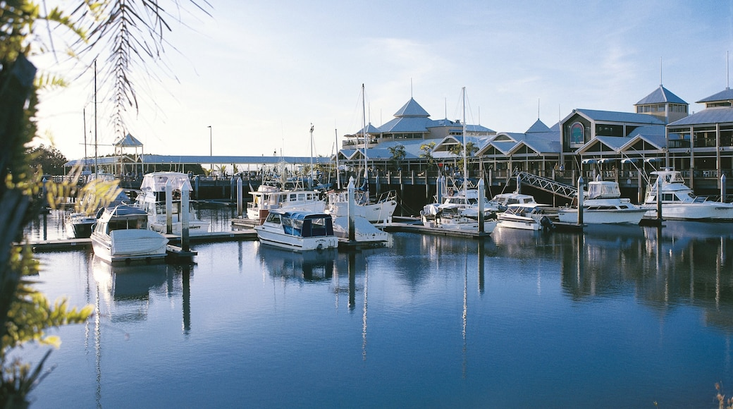 Port Douglas which includes a coastal town and a marina