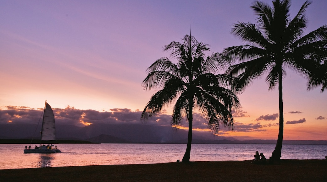 Port Douglas which includes a sunset, tropical scenes and sailing