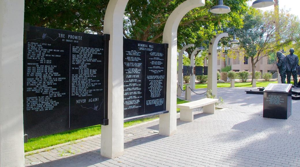 Desert Holocaust Memorial featuring a memorial