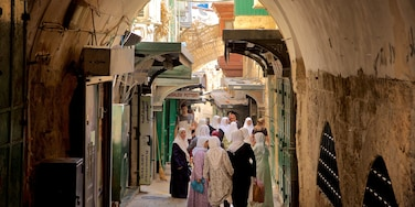Jerusalem which includes street scenes as well as a small group of people
