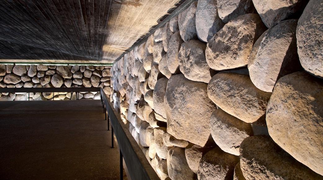 Yad Vashem showing interior views