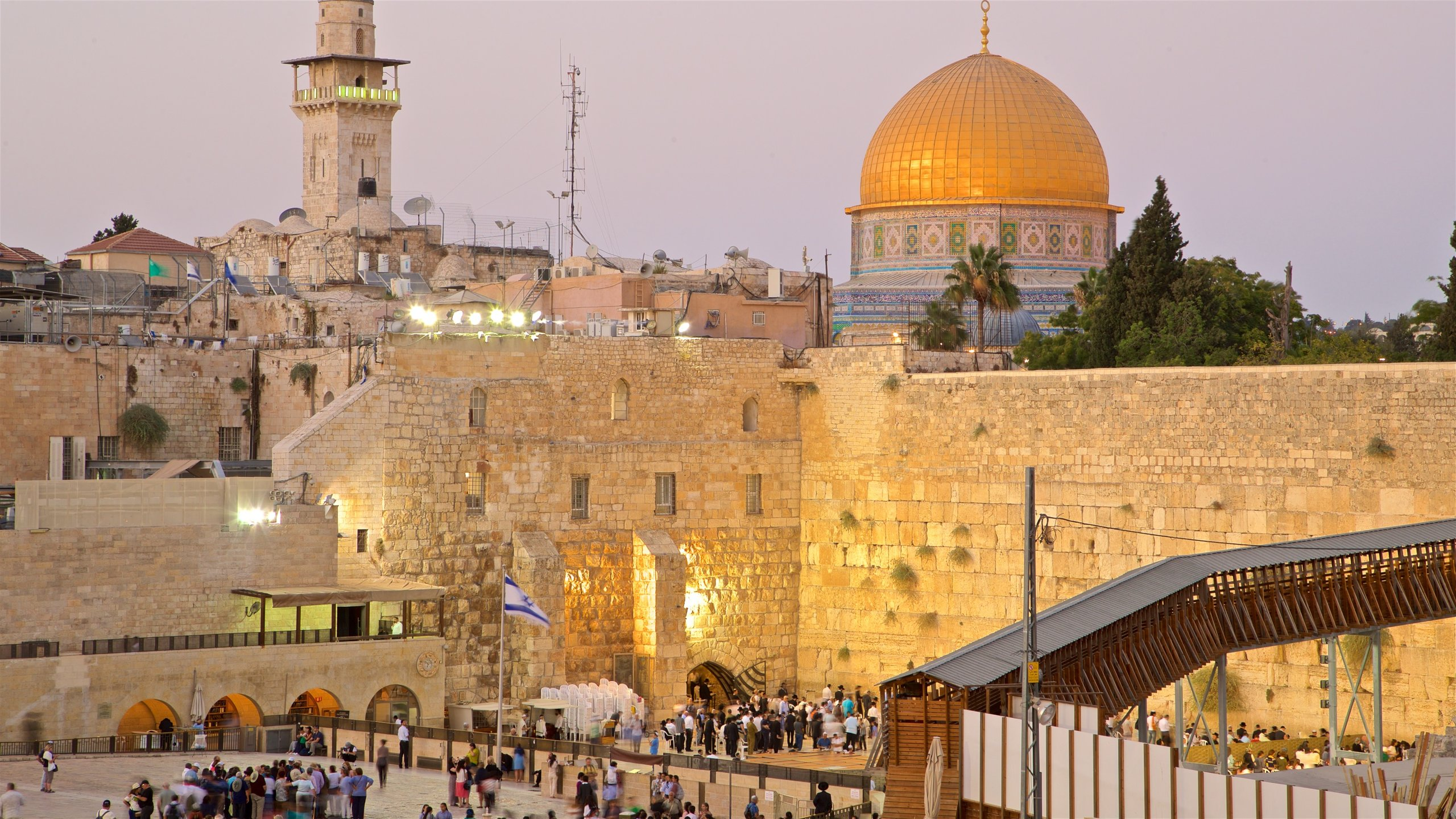 This 2,000-year-old structure is one of the world's holiest sites, where hundreds of praying worshippers make for a stirring sight.