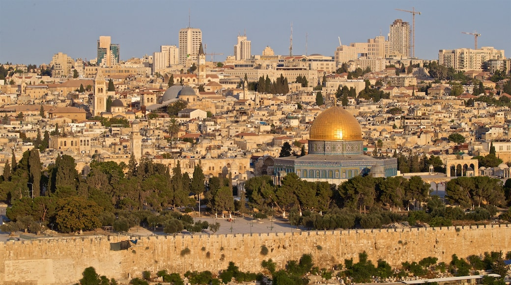 Temple Mount featuring landscape views, a city and heritage architecture