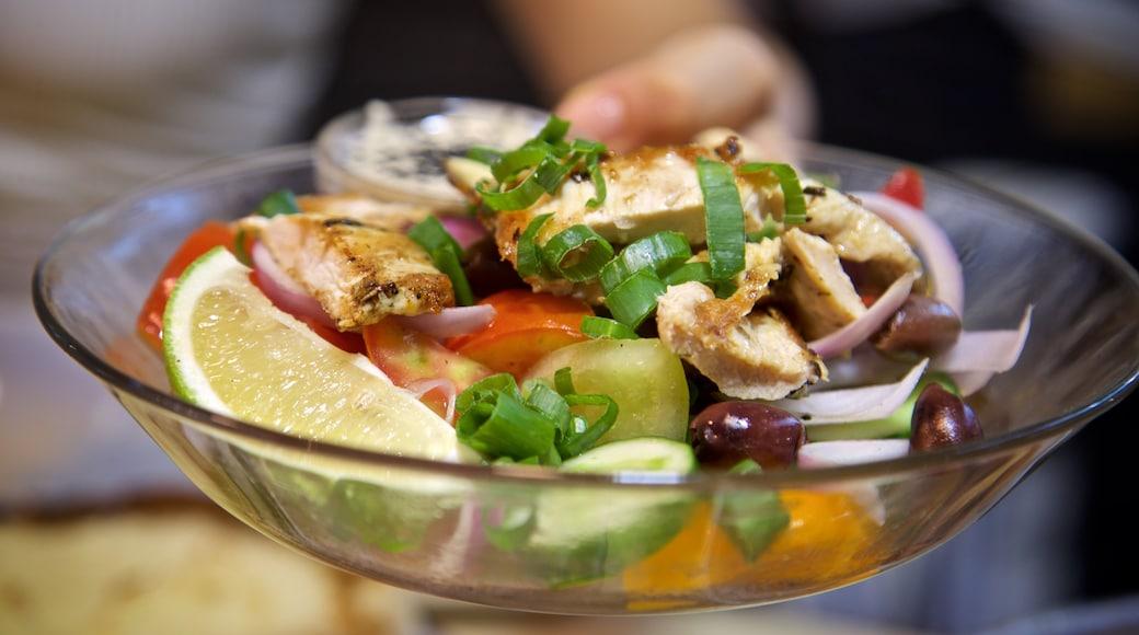 Carmel Market showing food