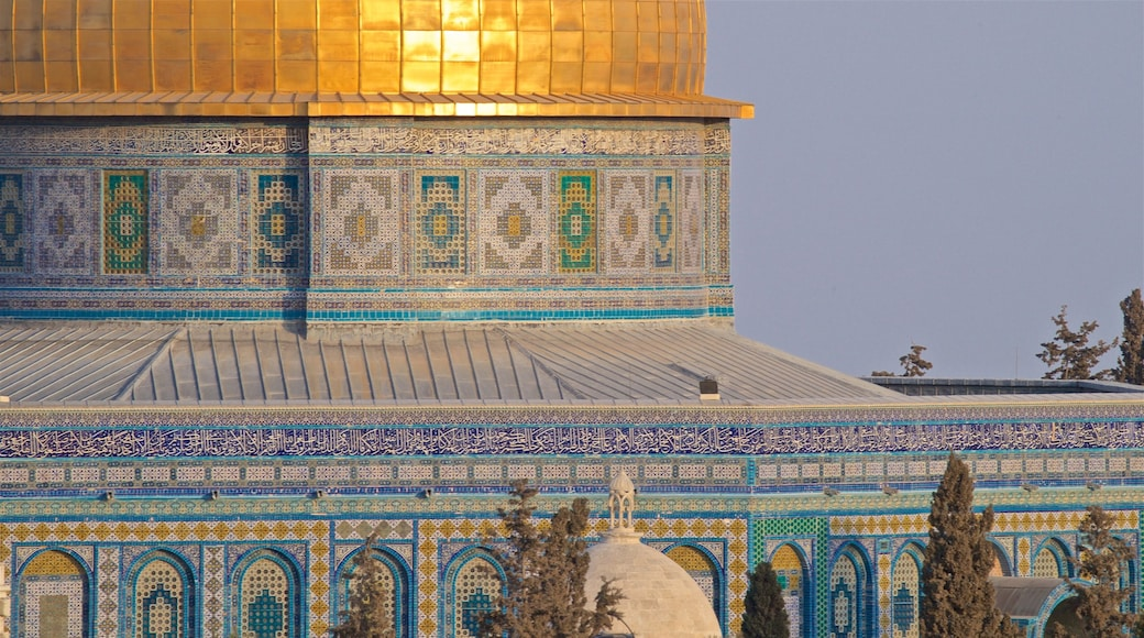 Dome of the Rock which includes heritage architecture