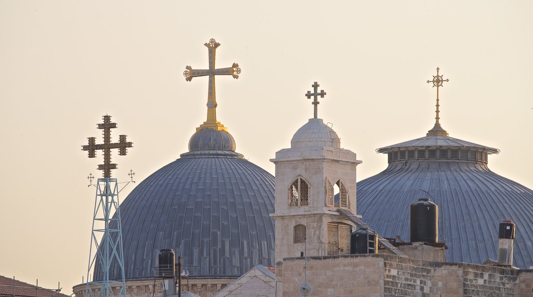 Yad Vashem featuring a sunset, heritage elements and religious elements
