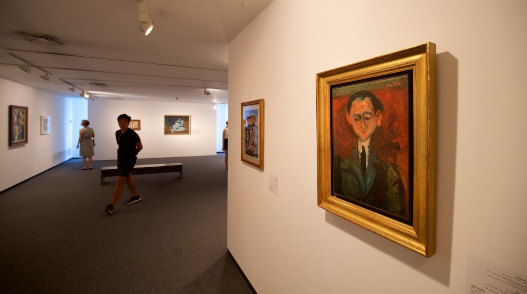 Tel Aviv Museum of Art which includes interior views and art as well as a small group of people