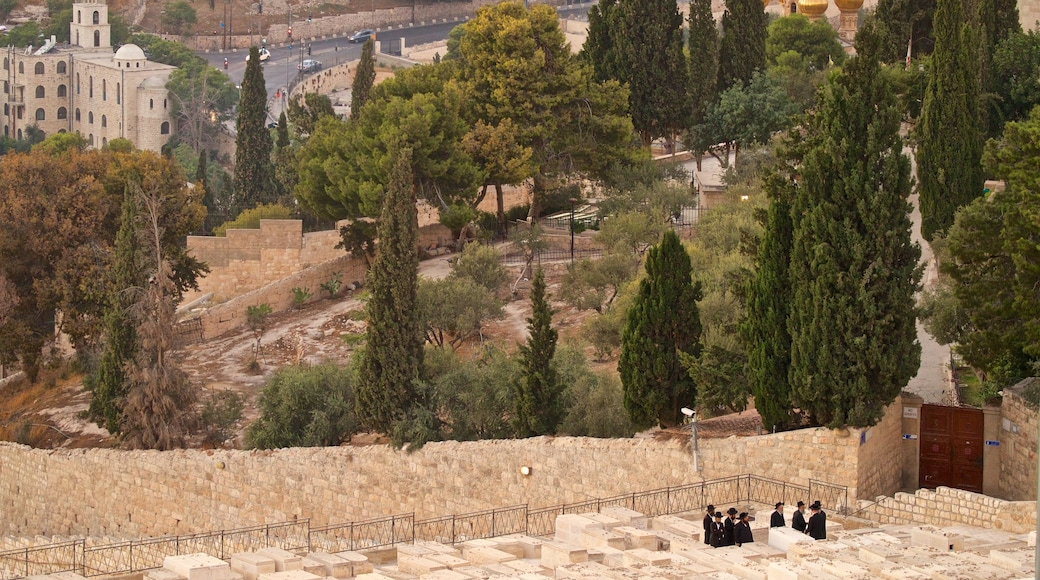 Mount of Olives as well as a small group of people