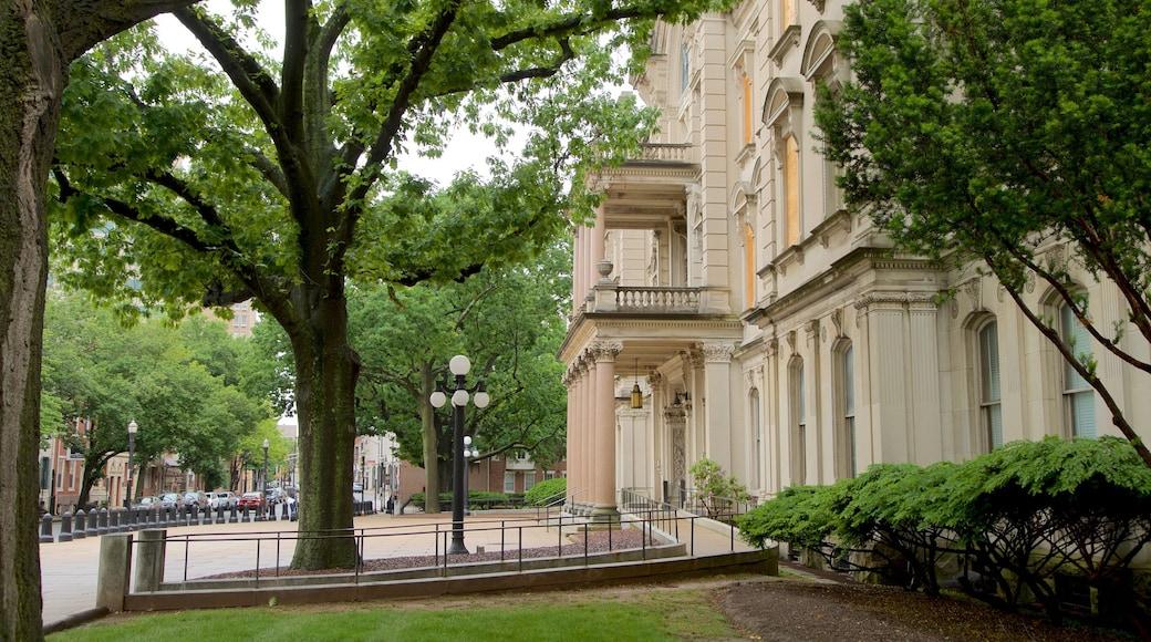 New Jersey State House que inclui arquitetura de patrimônio