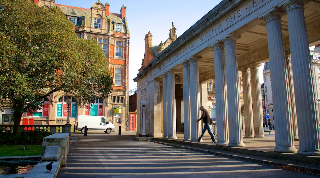 Southport showing heritage elements and street scenes as well as an individual male