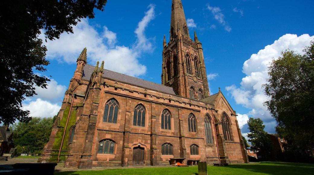 Warrington Parish Church featuring heritage architecture