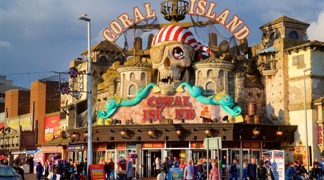 Blackpool mit einem Beschilderung