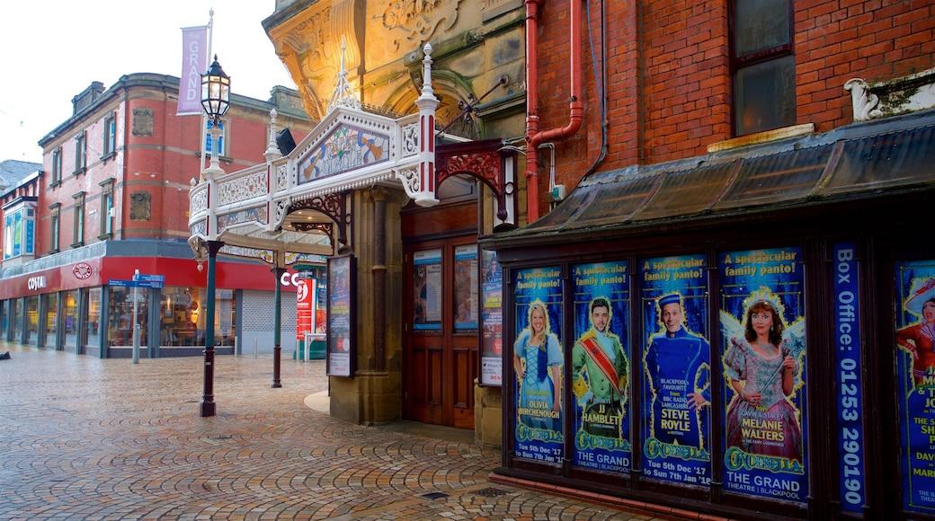 Blackpool Grand Theatre das einen Beschilderung