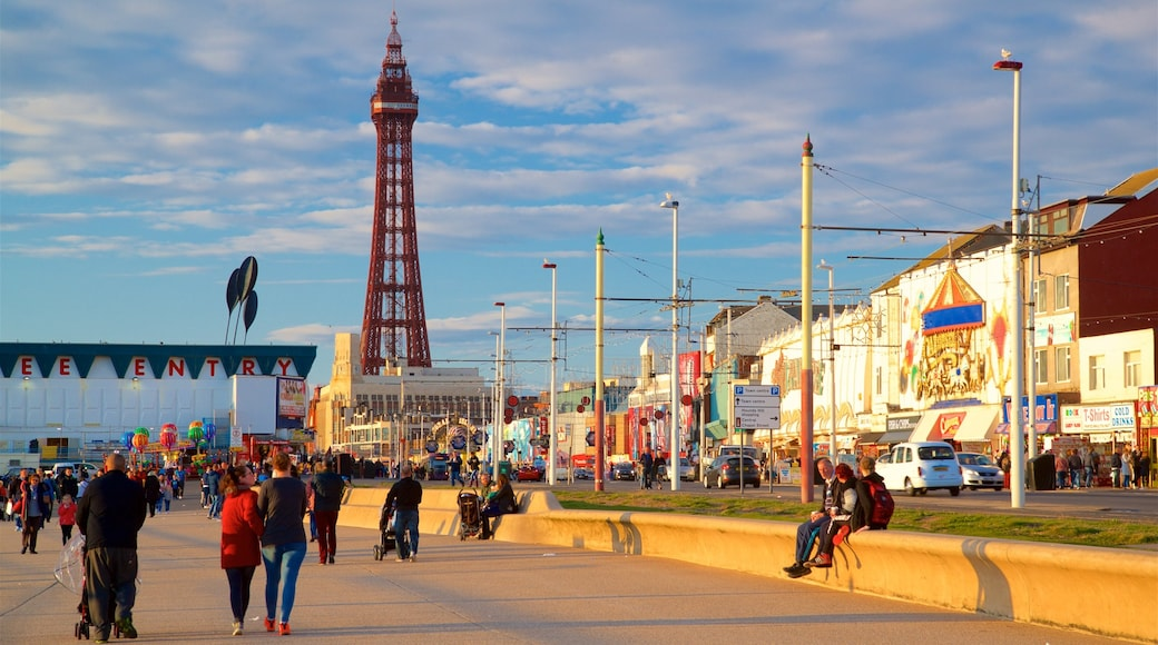 Blackpool Tower as well as a small group of people