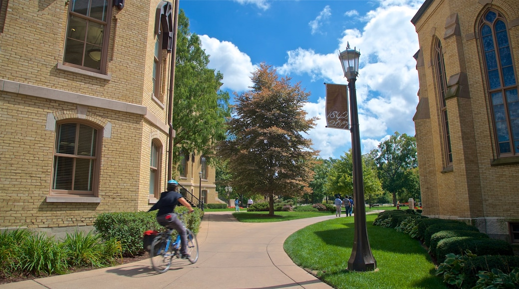 University of Notre Dame showing cycling