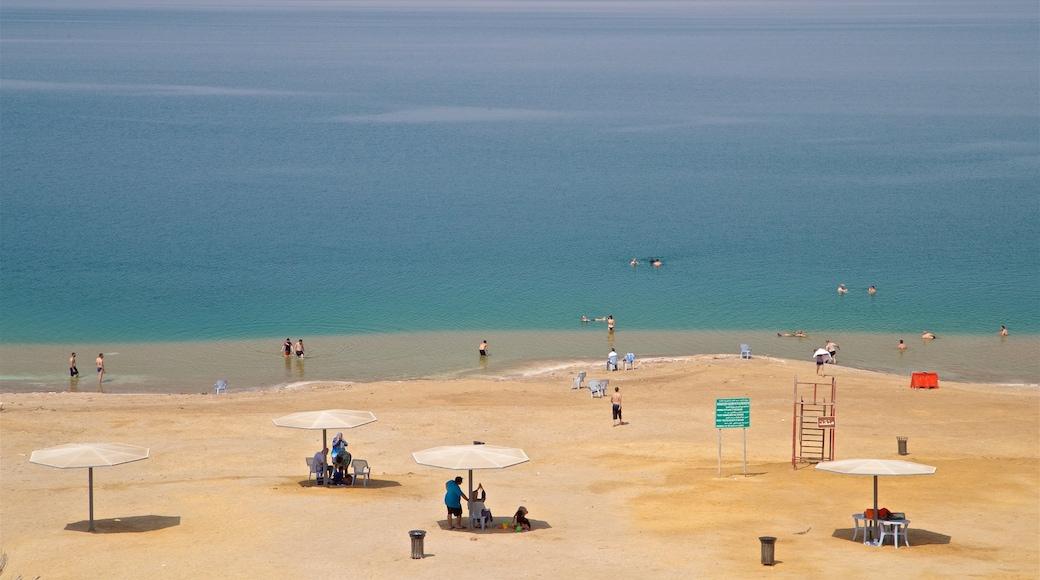Sweimeh mettant en vedette plage de sable, baignade et vues littorales