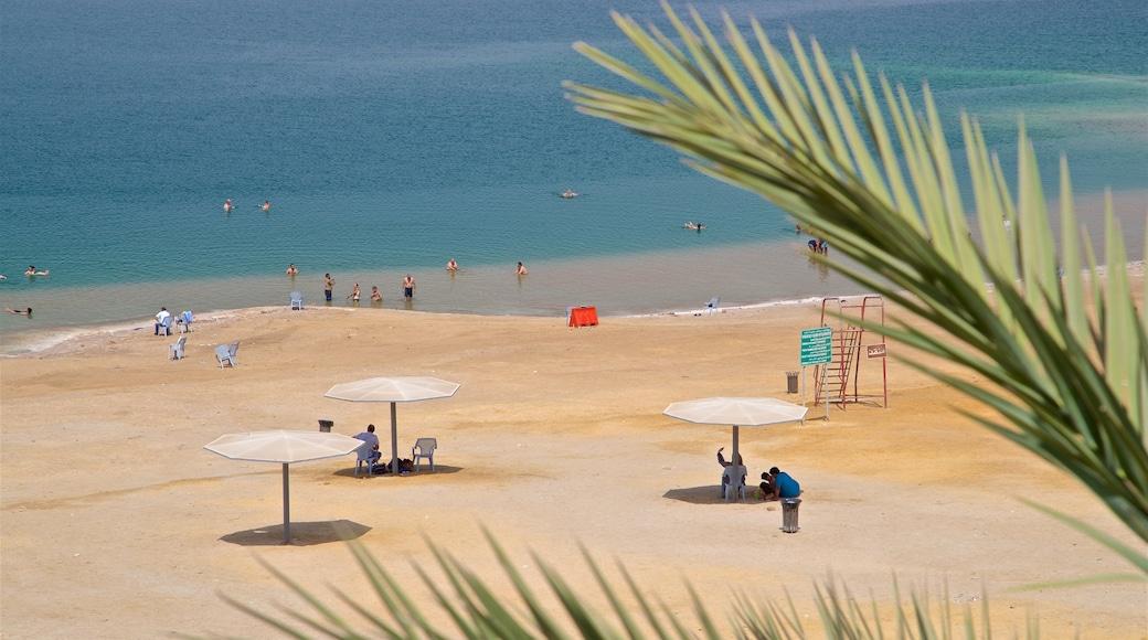 Sweimeh montrant plage de sable, vues littorales et baignade
