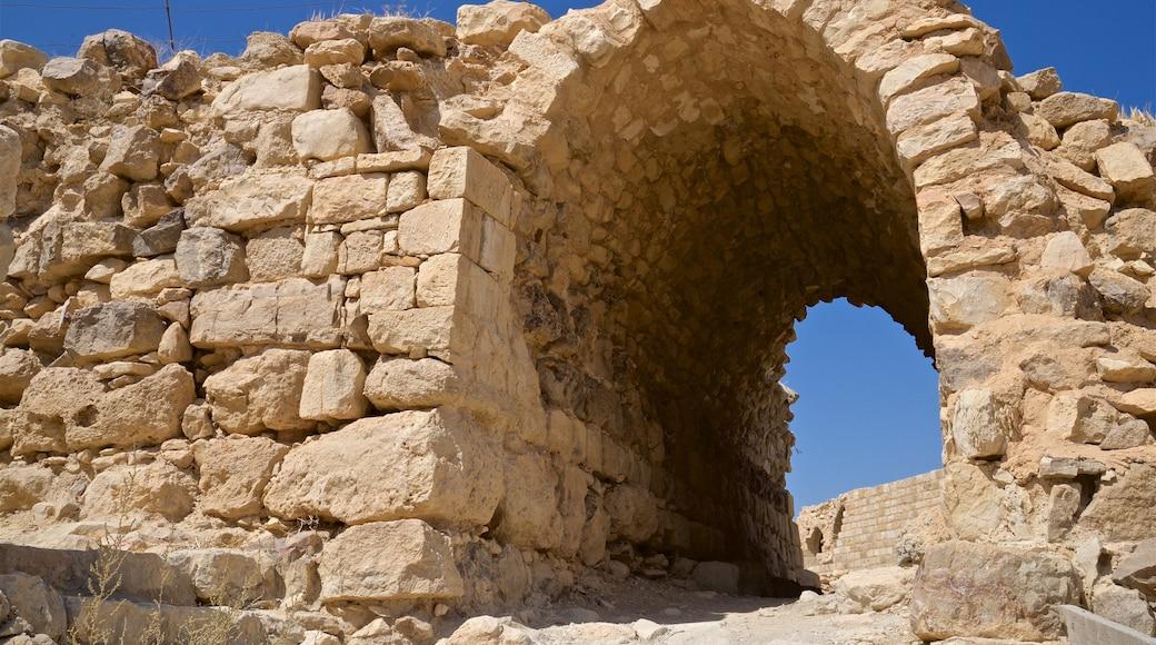 Shobak Castle featuring building ruins and heritage elements