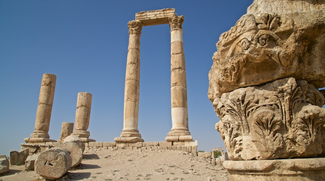 Temple of Hercules showing heritage elements and a ruin