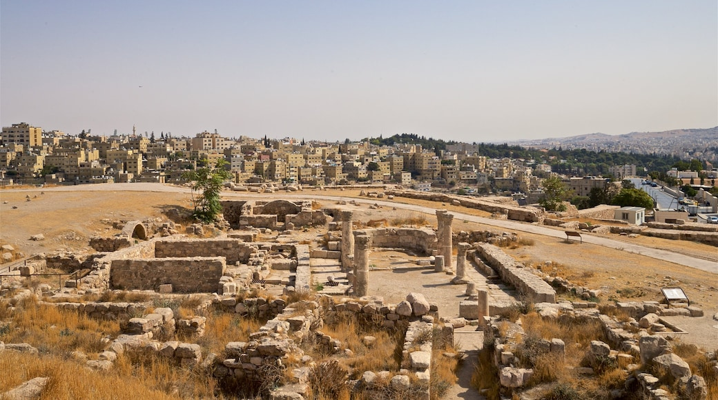Amman Citadel which includes heritage elements, landscape views and a ruin