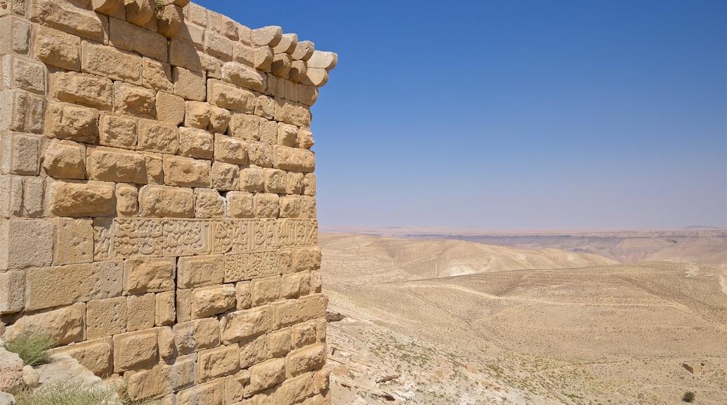 Shobak Castle showing desert views, landscape views and heritage elements