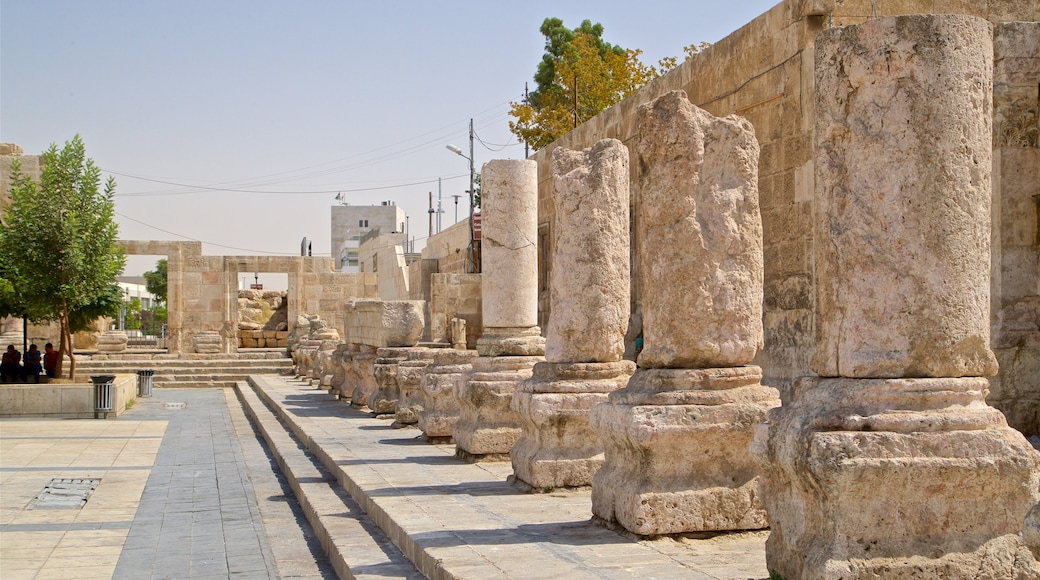 Amman Roman Theater which includes heritage elements