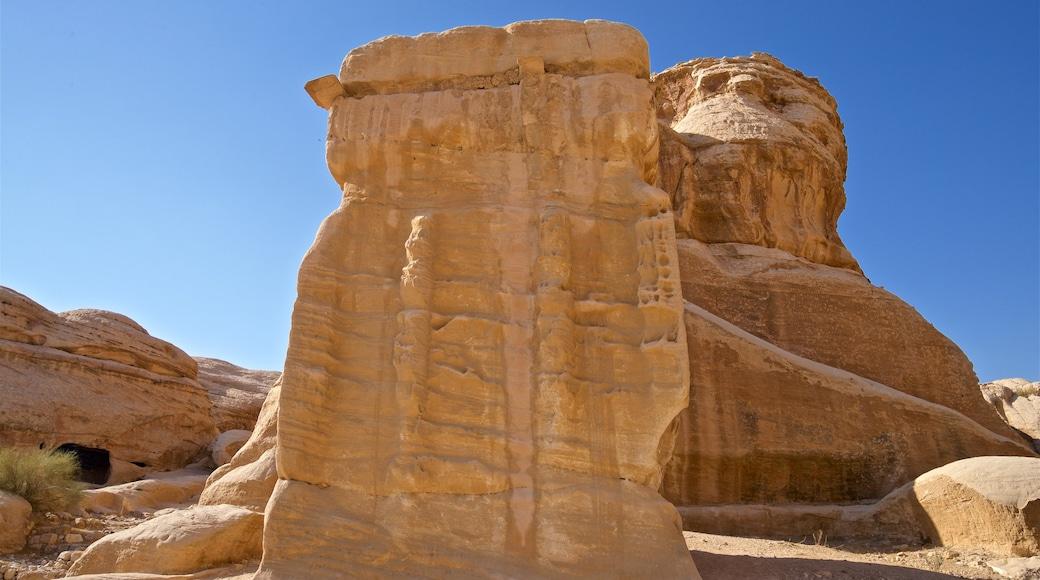 Wadi Musa showing a gorge or canyon