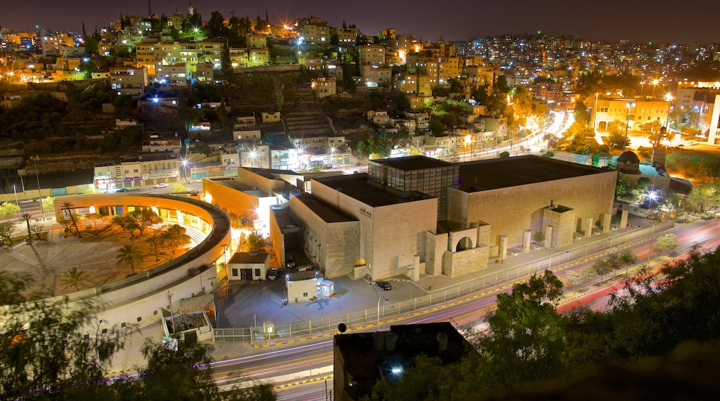 Amman featuring landscape views, a city and night scenes