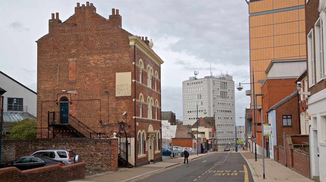 Stoke-on-Trent showing a city