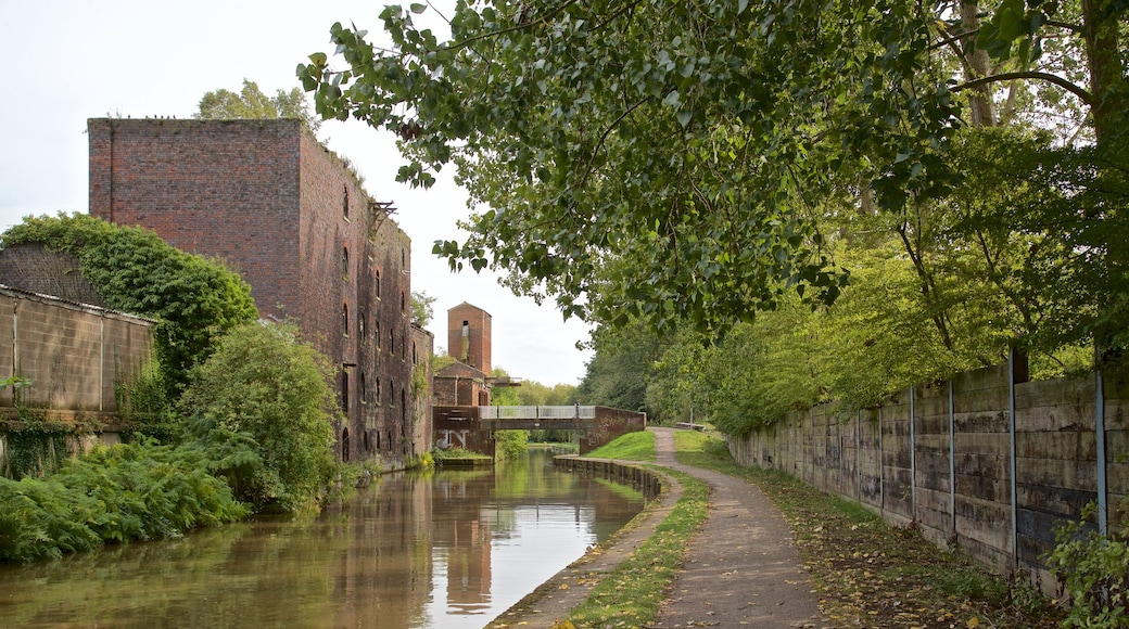 Stoke-on-Trent featuring heritage elements and a river or creek
