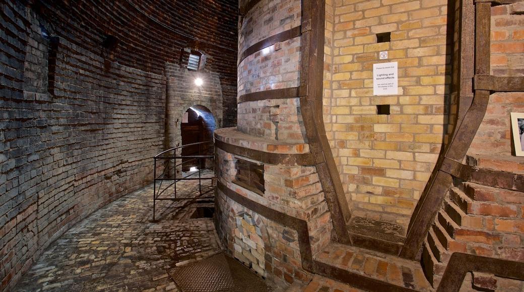 Coalport China Museum welches beinhaltet Innenansichten und Geschichtliches