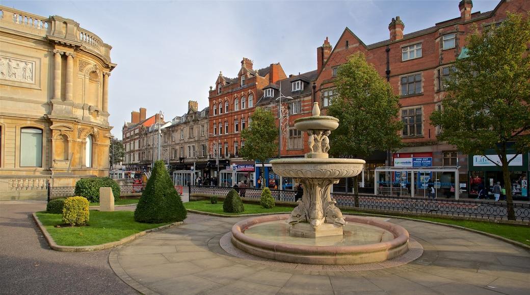 Wolverhampton caratteristiche di oggetti d\'epoca, fontana e giardino