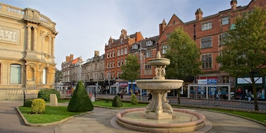Wolverhampton which includes a garden, heritage elements and a fountain