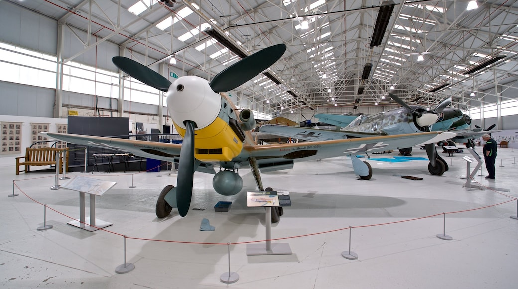 Cosford Royal Air Force Museum featuring aircraft and interior views