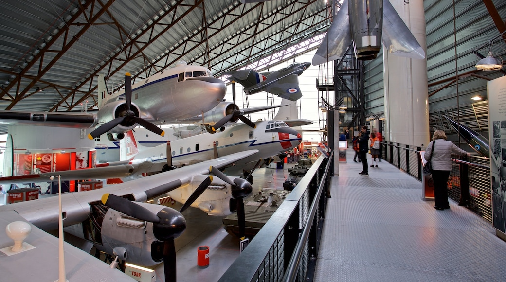 Cosford Royal Air Force Museum featuring interior views and aircraft