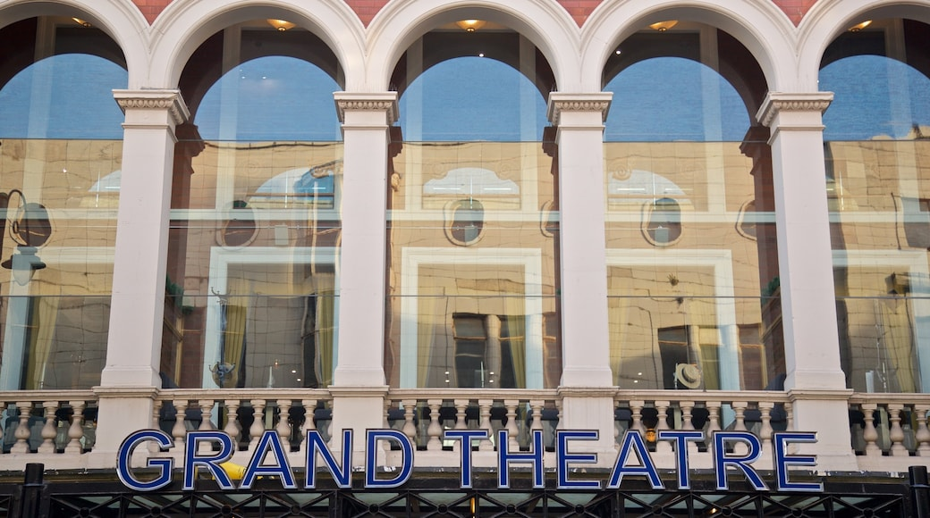Wolverhampton Grand Theatre featuring signage